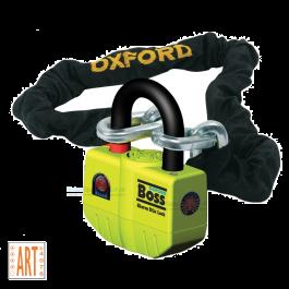 Motorslot Oxford Boss Alarm met 120cm Ketting