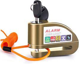 Vinz Elbroes Alarm Schijfremslot 6mm - Brons