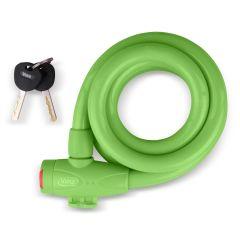 Vinz Musala Spiraal Kabelslot 15mm Groen - 150cm Main