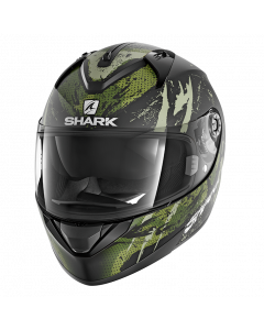 Shark Integraalhelm Ridill 1.2 Threezy Mat - Zwart / Wit / Groen